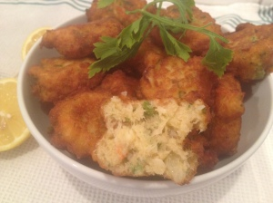 coriander and chickpea fish cakes