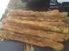 olive bread at Brockley market