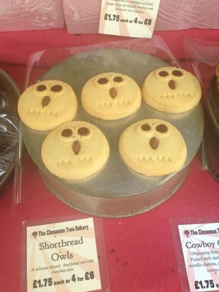 pretty owls cookies at Brockley market