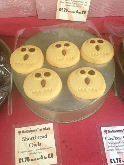 pretty owls cookies at Brockley market